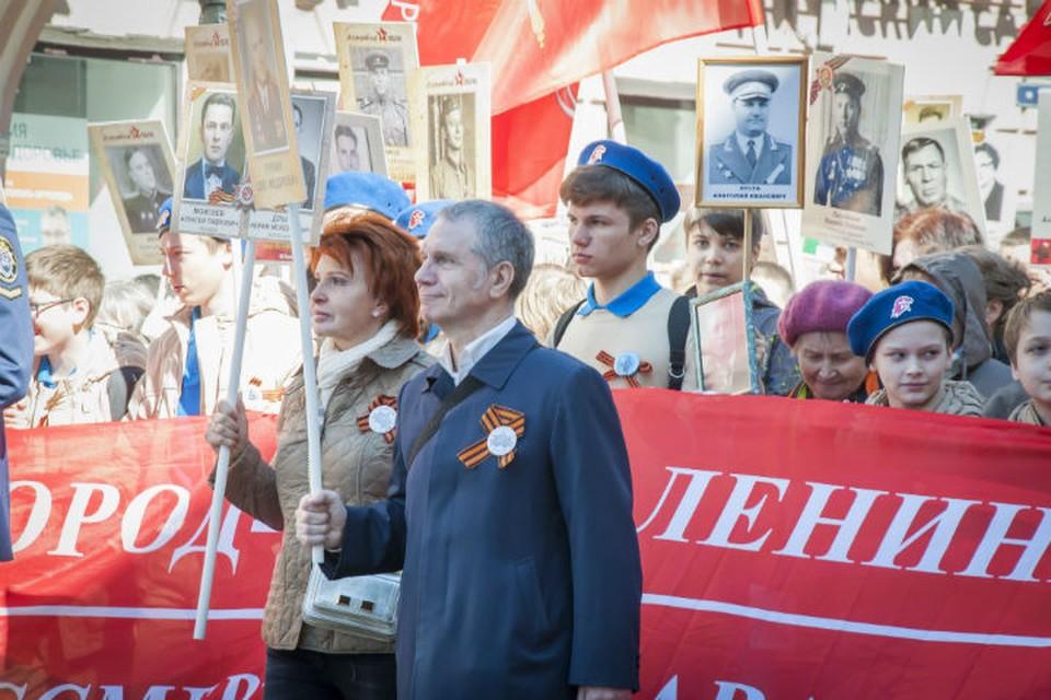 Шествие общественного движения «Вечно живые» 9 Мая. Фото: ГК «РосСтройИнвест».