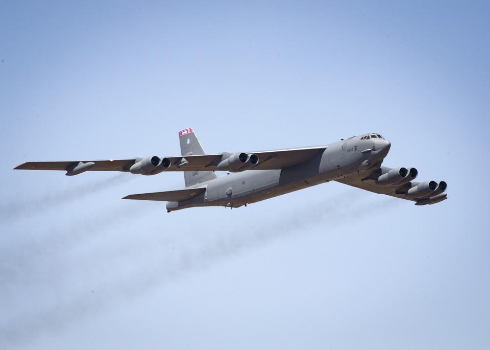 B-52H Stratofortress были доставлены в Европу в связи с предстоящими учениями НАТО в Грузии.