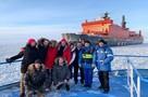 Митя Фомин в Сабетте на атомном ледоколе снимает новый клип
