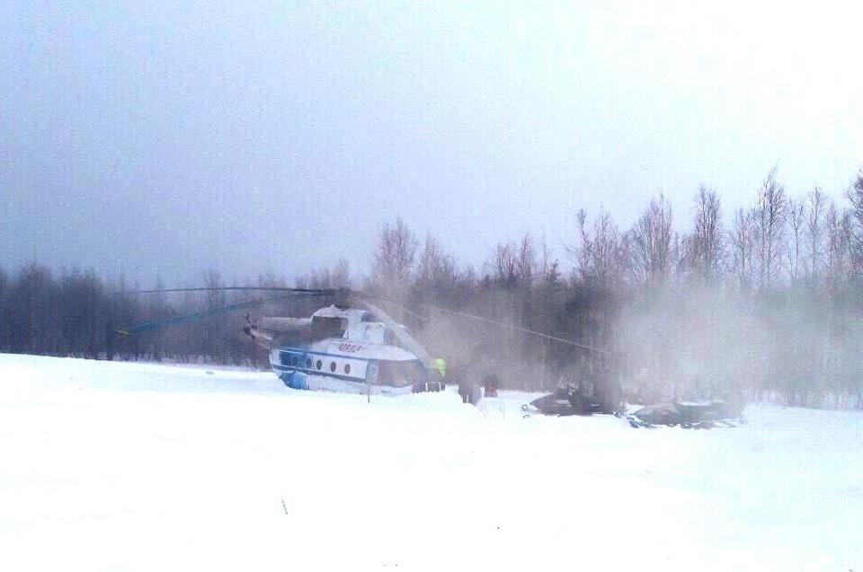 На Ямале вертолет с пассажирами приземлился с оторванным хвостом Фото: ural-trans.sledcom.ru