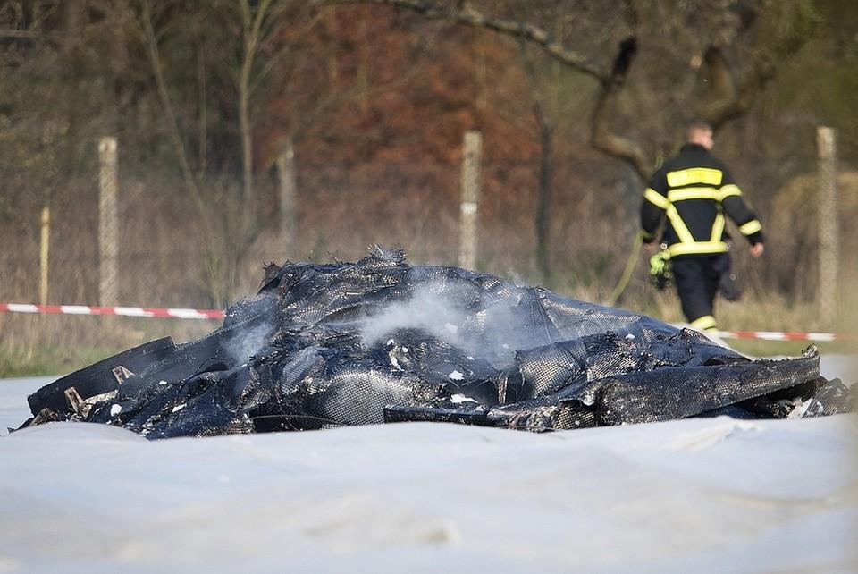 """Частный самолет авиакомпании """"Глобус"""" потерпел крушение на подлете к аэропорту Франкфурт-Эгельсбах вечером в воскресенье, 31 марта."""