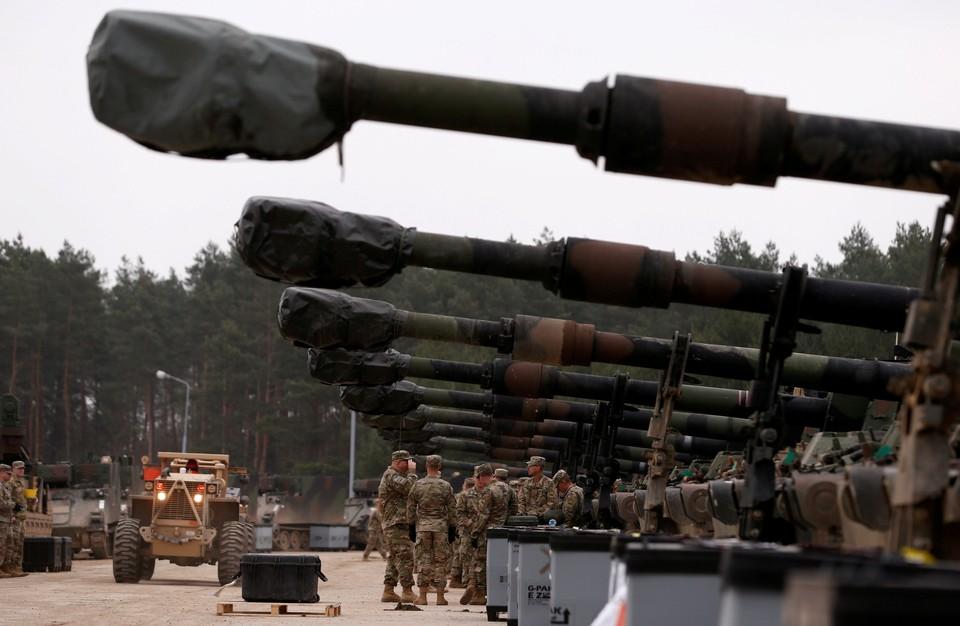 Развертывание 2-й танковой бригады и 1-й танковой дивизии ВС США в Польше перед учениями