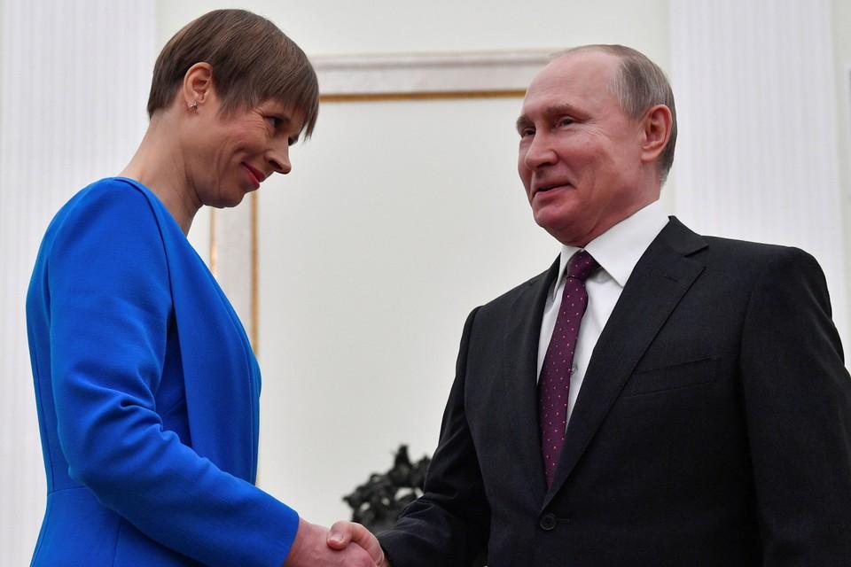 Президент Эстонии приехала в Москву после десятилетней паузы