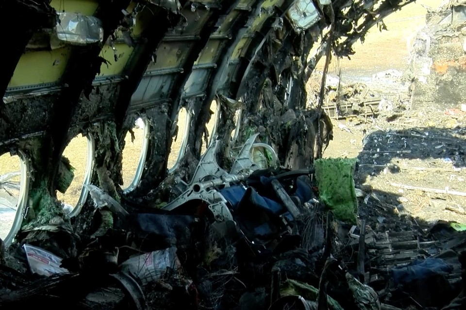В сгоревшем самолете погиб 41 человек, в том числе 2 детей