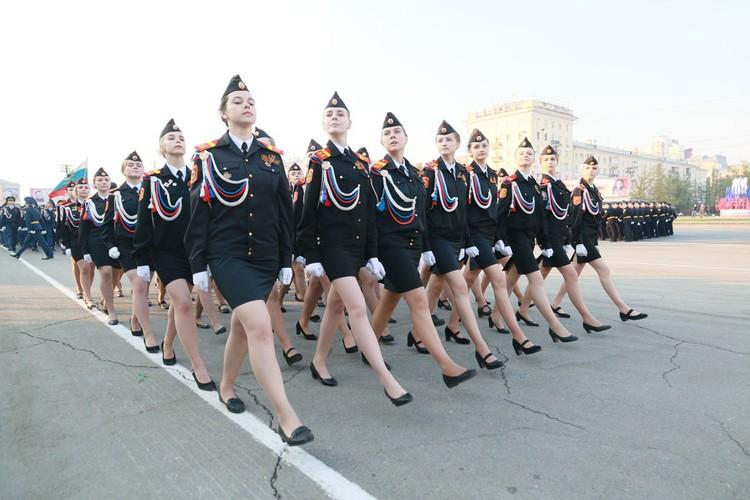 В Барнауле прошла репетиция Парада победы.