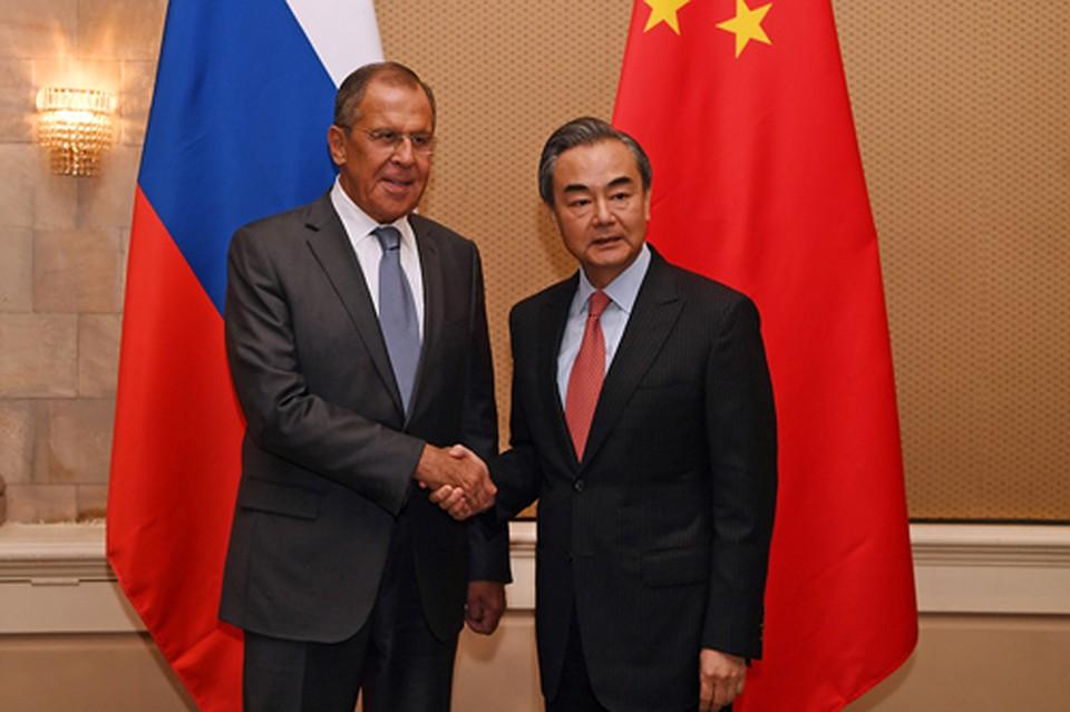 Сергей Лавров и Ван И. Фото: МИД КНР