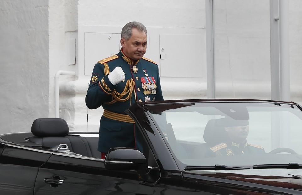 Сергей Шойгу на Параде Победы в Москве.