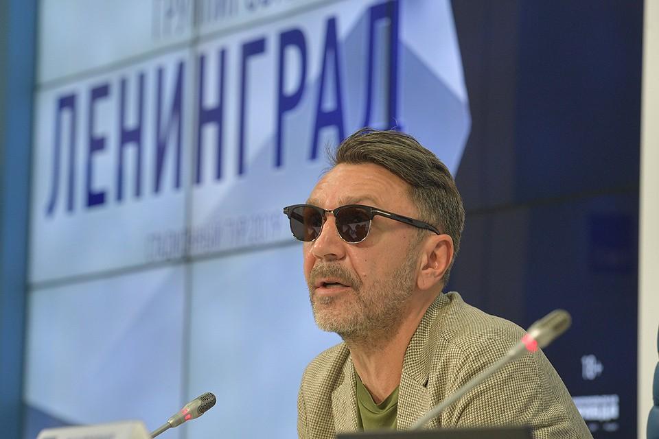 Сергей Шнуров на пресс-конференции 13 мая 2019 г.