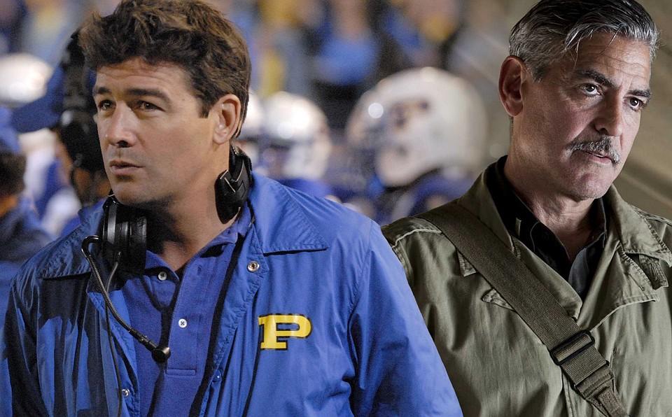 "Кайл Чандлер и Джордж Клуни на съемках сериала ""Уловка-22"""