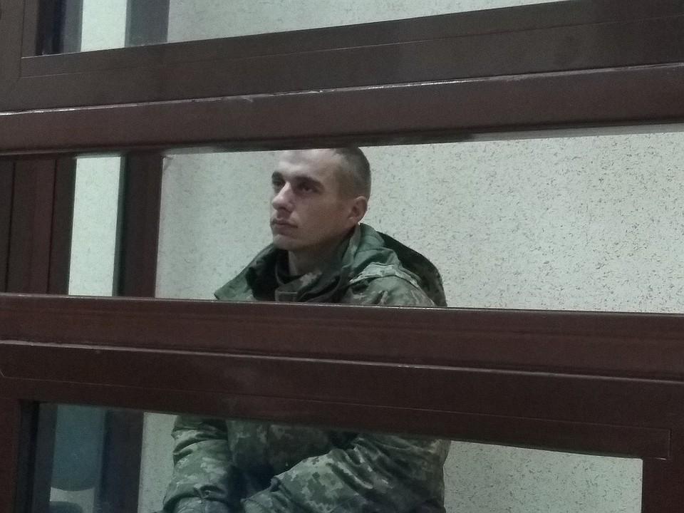 Старший матрос ВМСУ Владимир Терещенко на суде в Симферополе