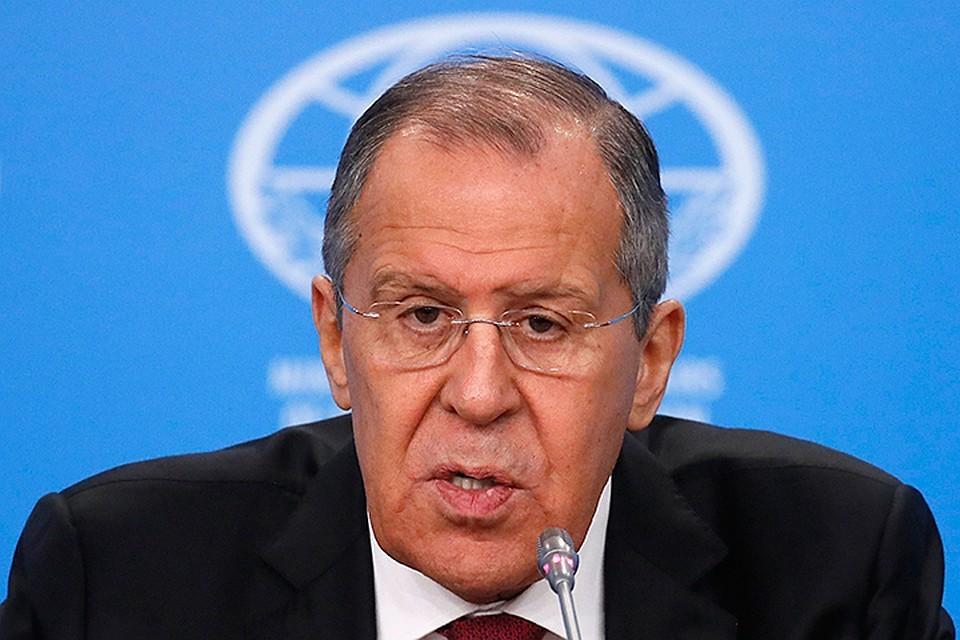 Глава российского МИД Сергей Лавров.