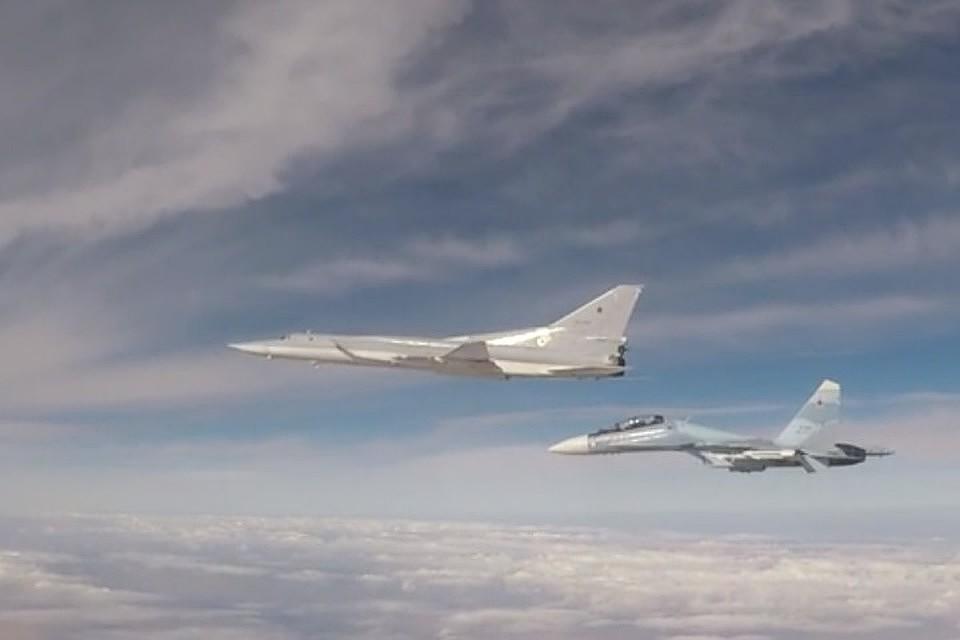 Испытания бомбардировщика Ту-22М3М. Фото: скриншот видео