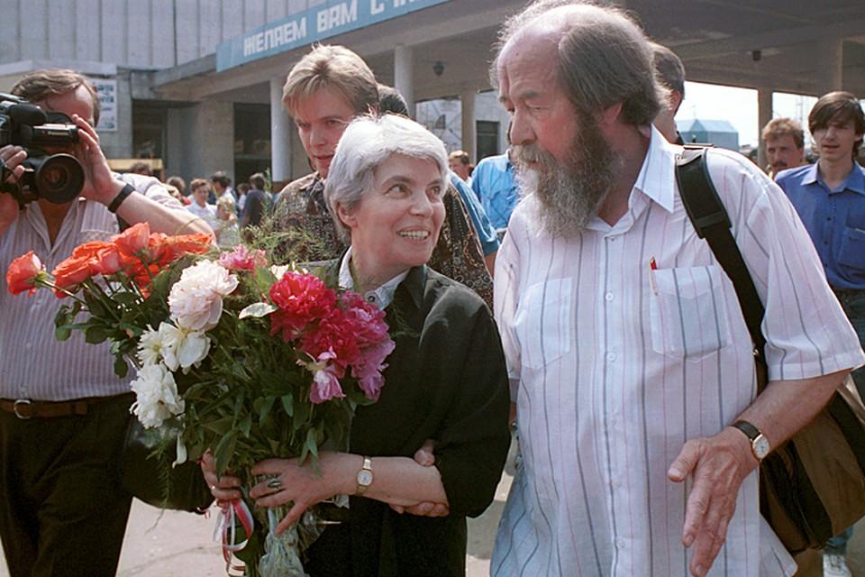 Александр Солженицын с женой вернулись в Россию в 1994 году