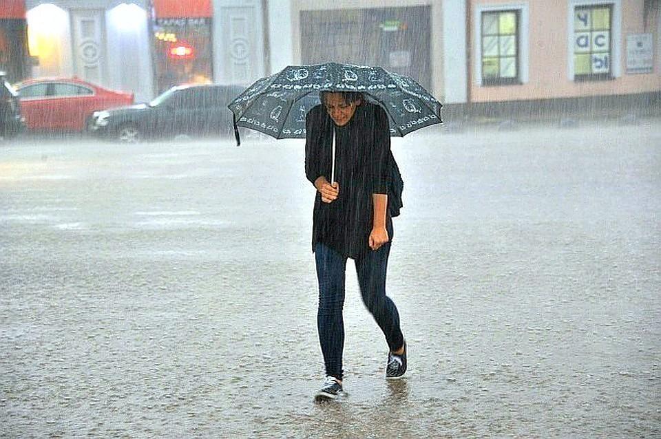 МЧС: Сильный дождь и ветер надвигается на Москву