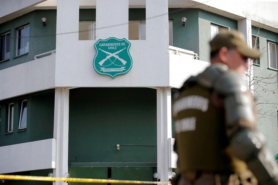 Полицейский участок, в котором взорвалась посылка