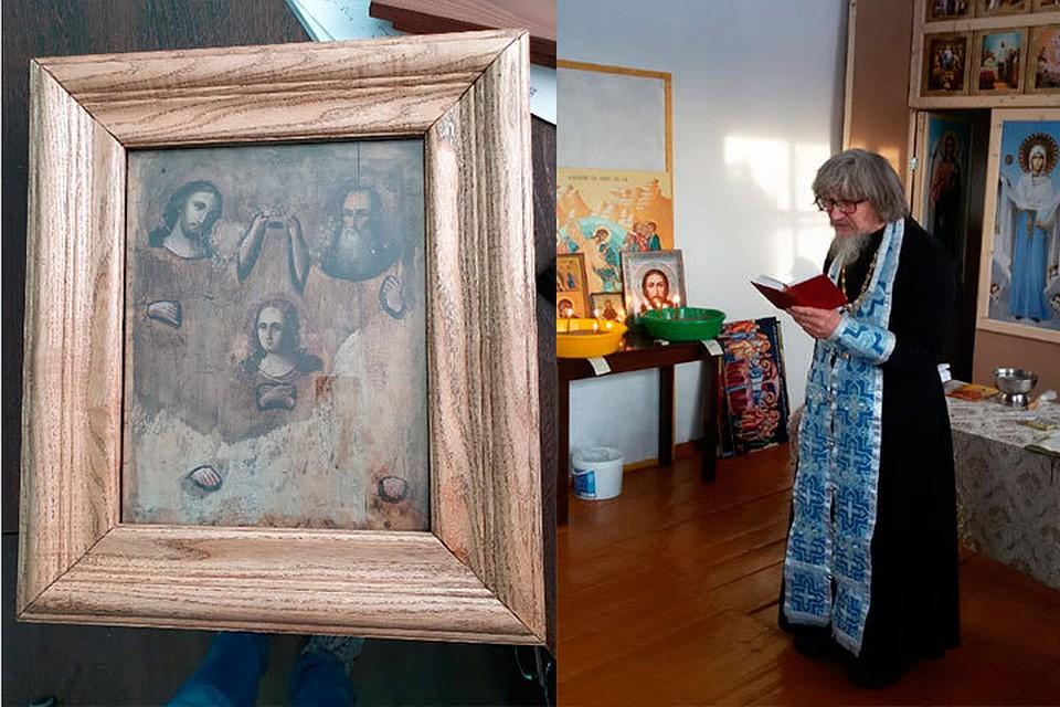 На Алтае происходят чудеса с иконой, приплывшей по реке