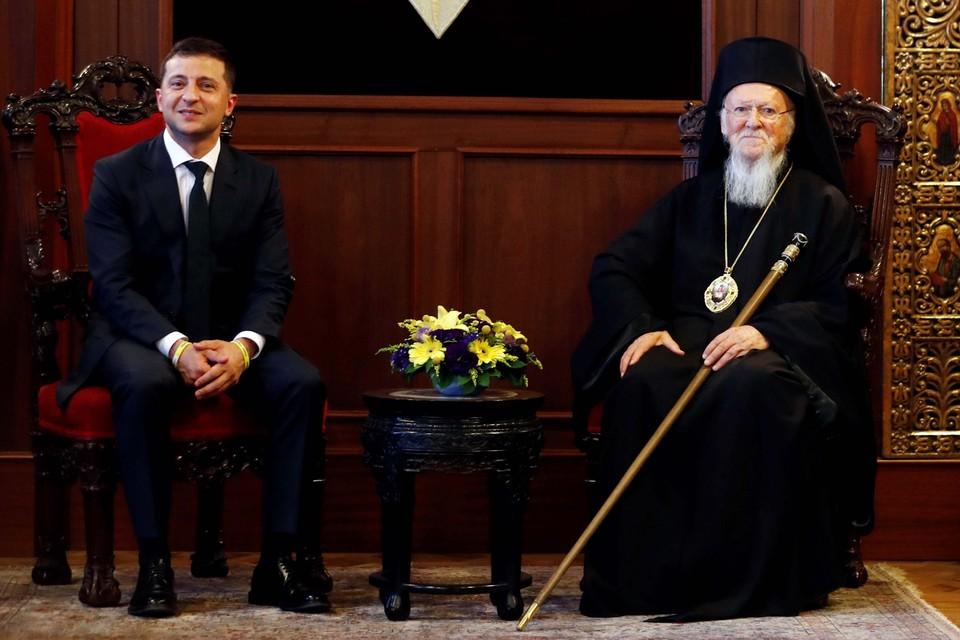 Президент Украины Зеленский встретился с Вселенским православным патриархом Варфоломеем I
