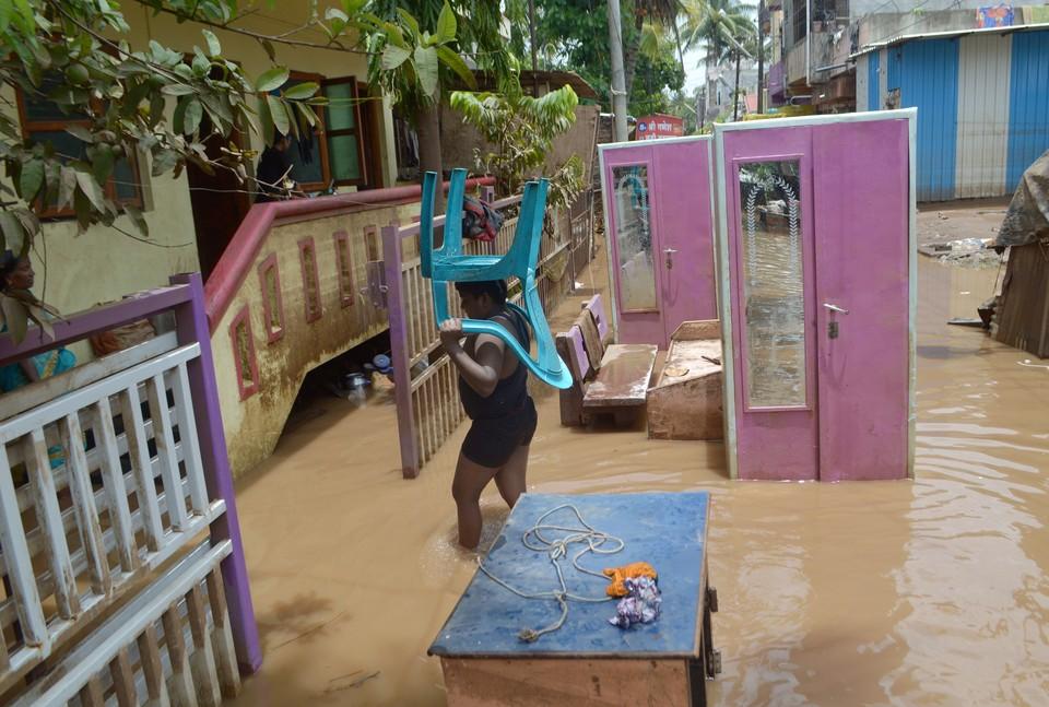 В конце июня на Индию обрушились муссонные дожди