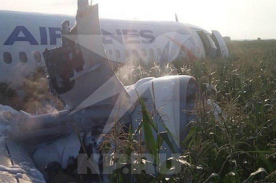 При аварийной посадке воздушное судно получило значительные повреждения