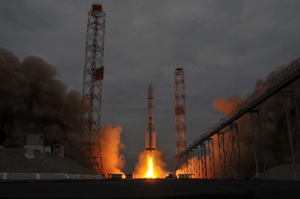 Старт ракеты на Байконуре