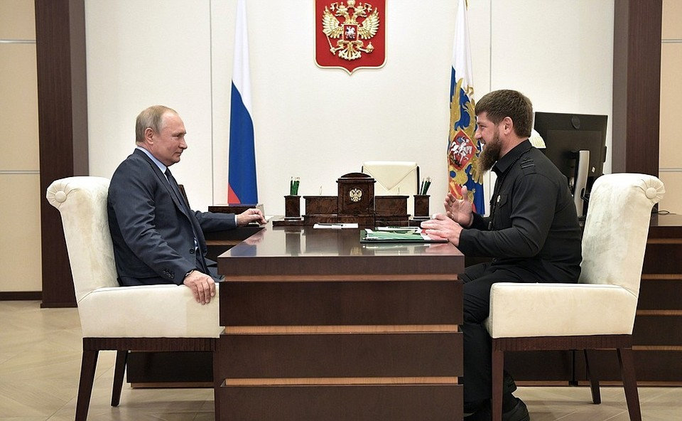 Рабочая встреча Владимира Путина и Рамзана Кадырова