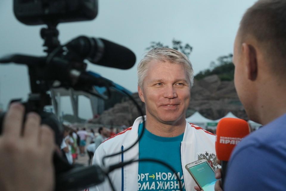Министр спорта России, олимпийский чемпион по фехтованию Павел Колобков. Фото: photo.roscongress.org