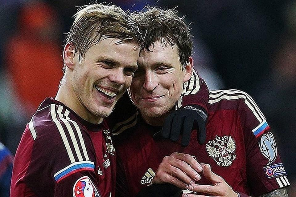 Александр Кокорин и Павел Мамаев не растеряли спортивную форму. Фото: Станислав Красильников/ТАСС