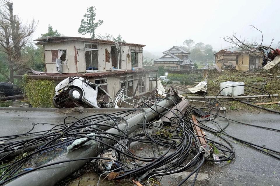 После удара тайфуна Хагибис в Японии без электричества остались 425 тысяч домов