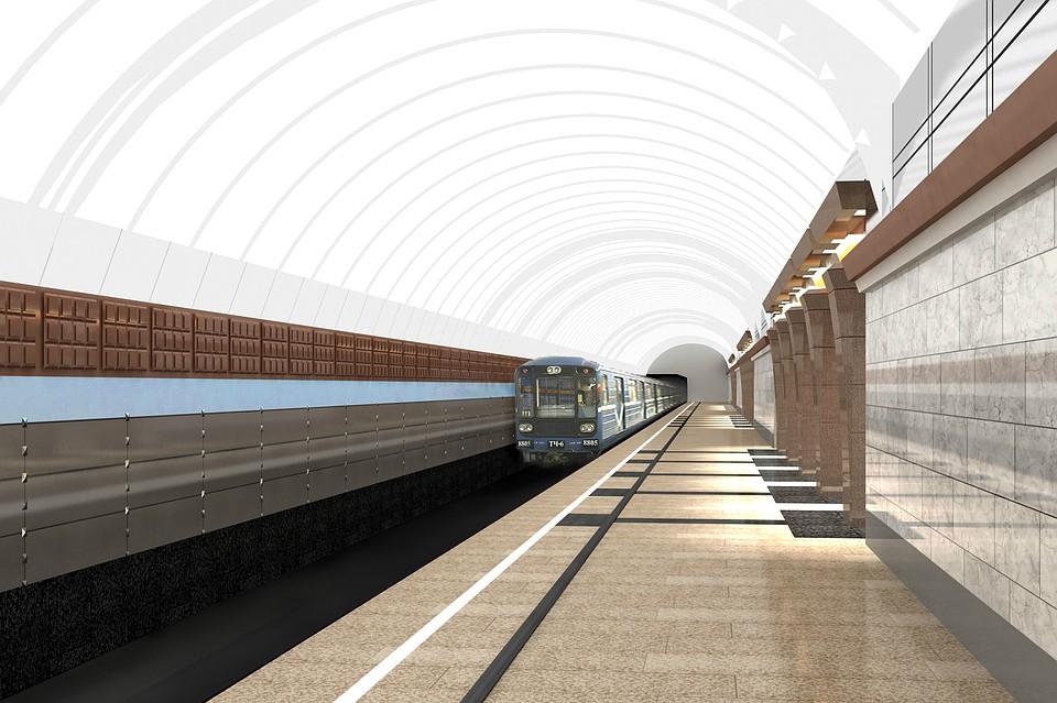 коричневая ветка метро в спб