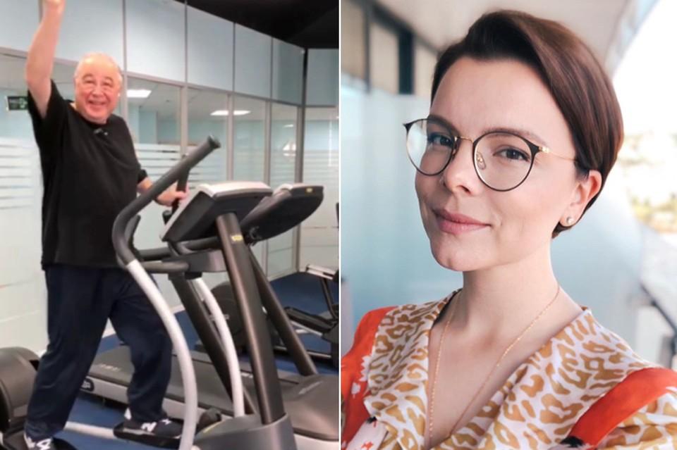 Татьяна Брухунова вдохновляет Евгения Петросяна на регулярные занятия спортом. Фото: Инстаграм.