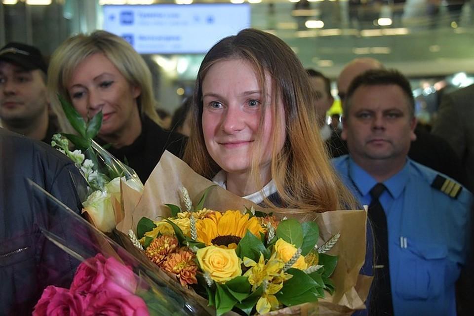 Россиянка Мария Бутина вернулась домой после 18 месяцев американской тюрьмы.