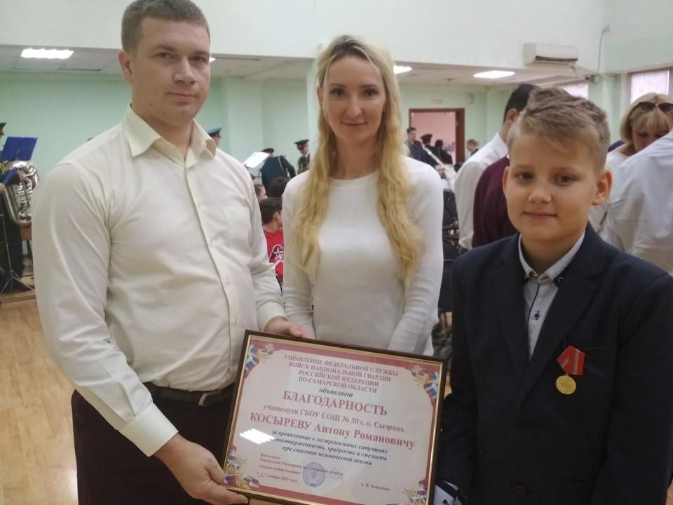 Родители Антона узнали о подвиге сына из газет