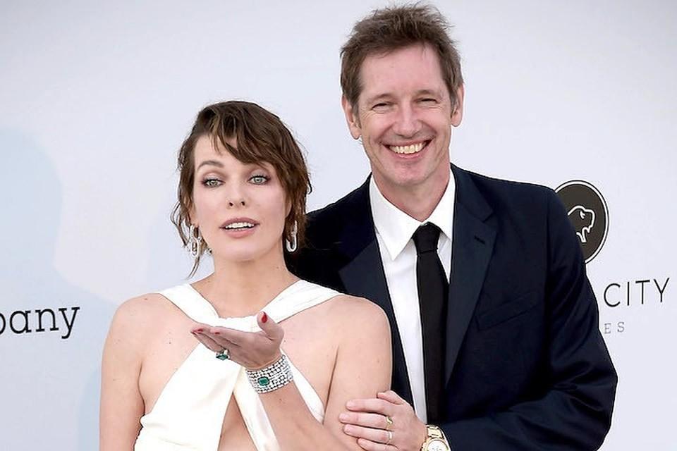 Милла Йовович с мужем Полом Андерсоном.