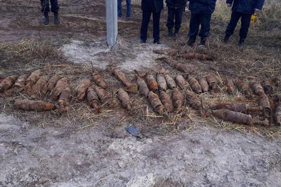 40 противотанковых снарядов нашли на стройке в Дзержинске