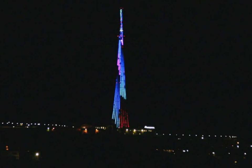 Пока что телевышка лишилась своей изюминки в виде подсветки. Фото: visitmurmansk.info