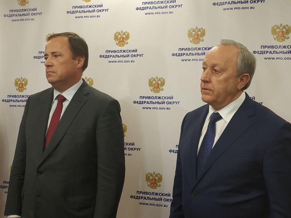 Полпред в ПФО Игорь Комаров и губернатор Валерий Радаев