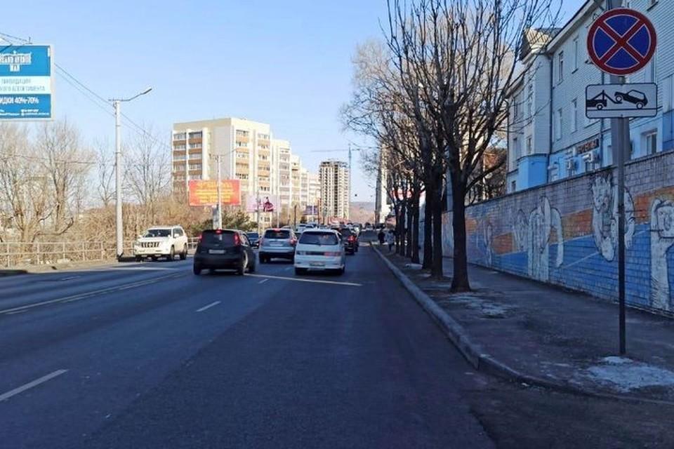 Власти города вернули знаки запрета парковки на Партизанском проспекте