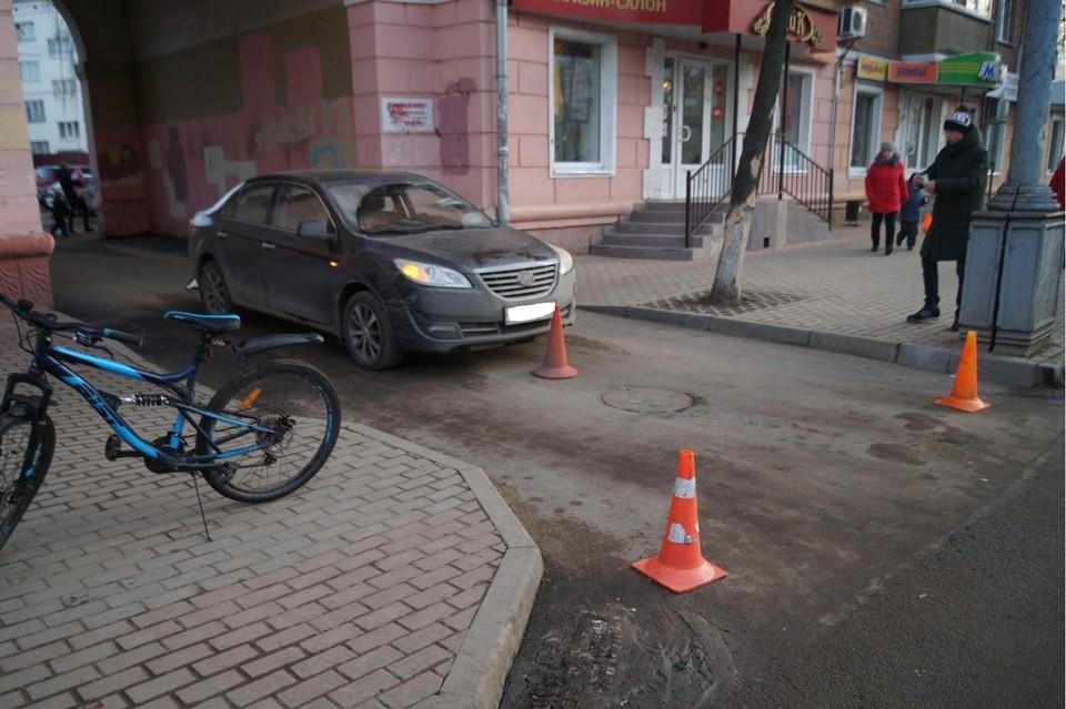 В Орле водитель «Лифана» сбил подростка-велосипедиста. Фото: УГИБДД УМВД России по Орловской области