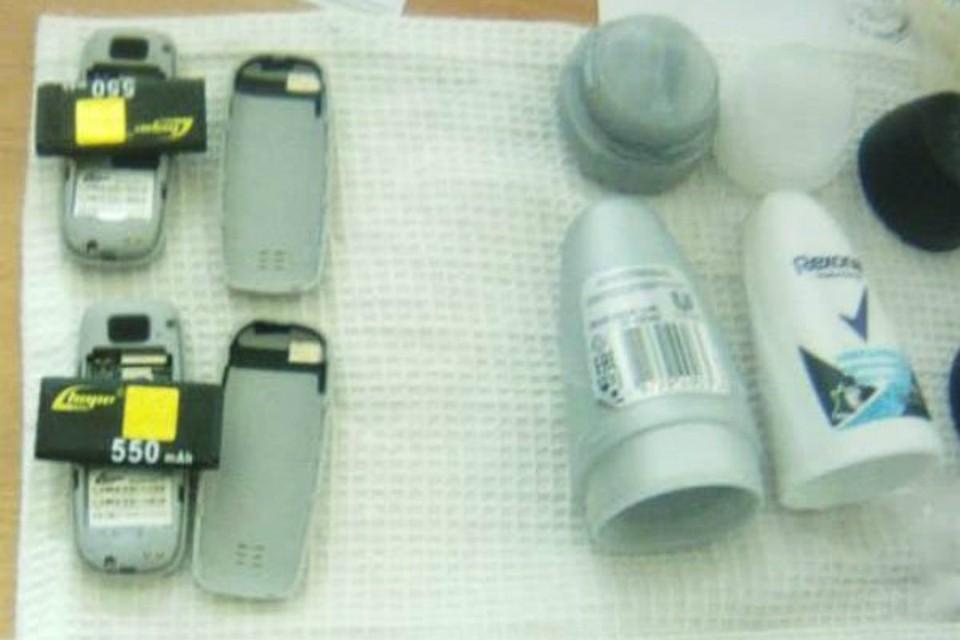 Телефоны попытались передать в ростовскую колонию. Фото: пресс-служба ГУФСИН по РО