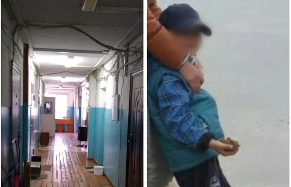 Пашу часто видели играющим в коридоре общаги - идти домой он не хотел.