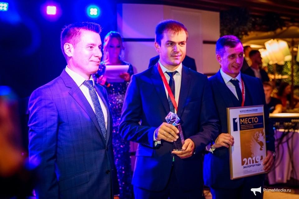 """Вручение премии """"Экспортер года"""" на V Восточном экономическом форуме. Фото: Primamedia."""
