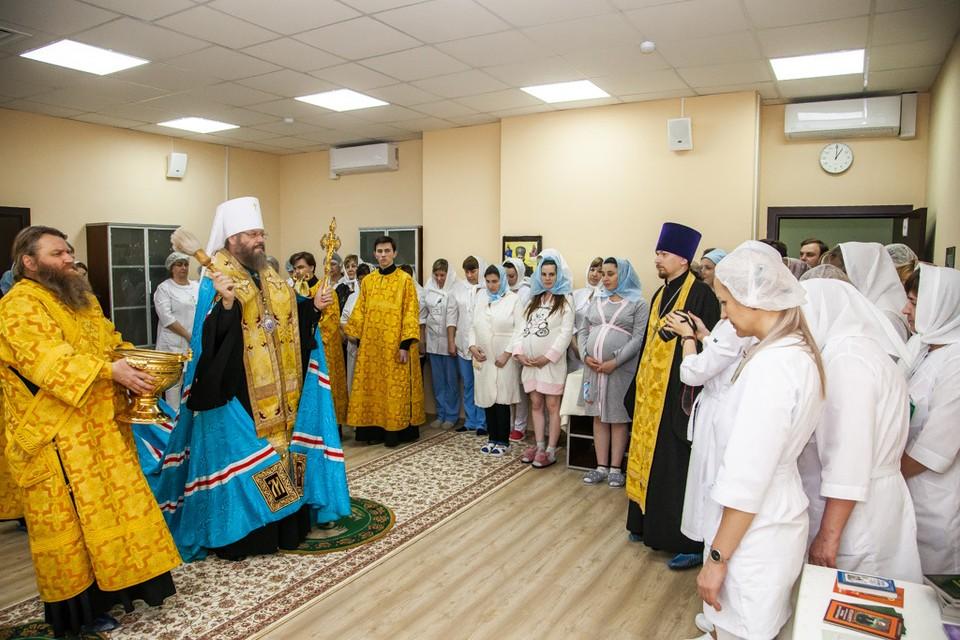 Глава тамбовской митрополии освятил молельную комнату в Перинатальном центре имени преподобной Марфы Тамбовской