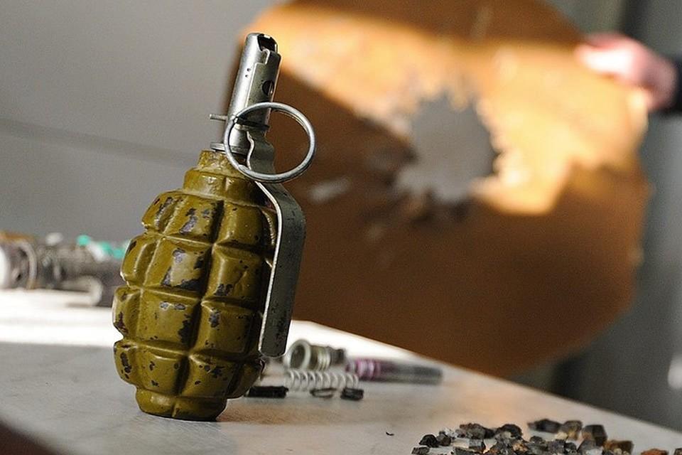 Ручная противопехотная оборонительная граната Ф-1 в экспертно-криминалистическом центре. Фото ИТАР-ТАСС/ Антон Буценко