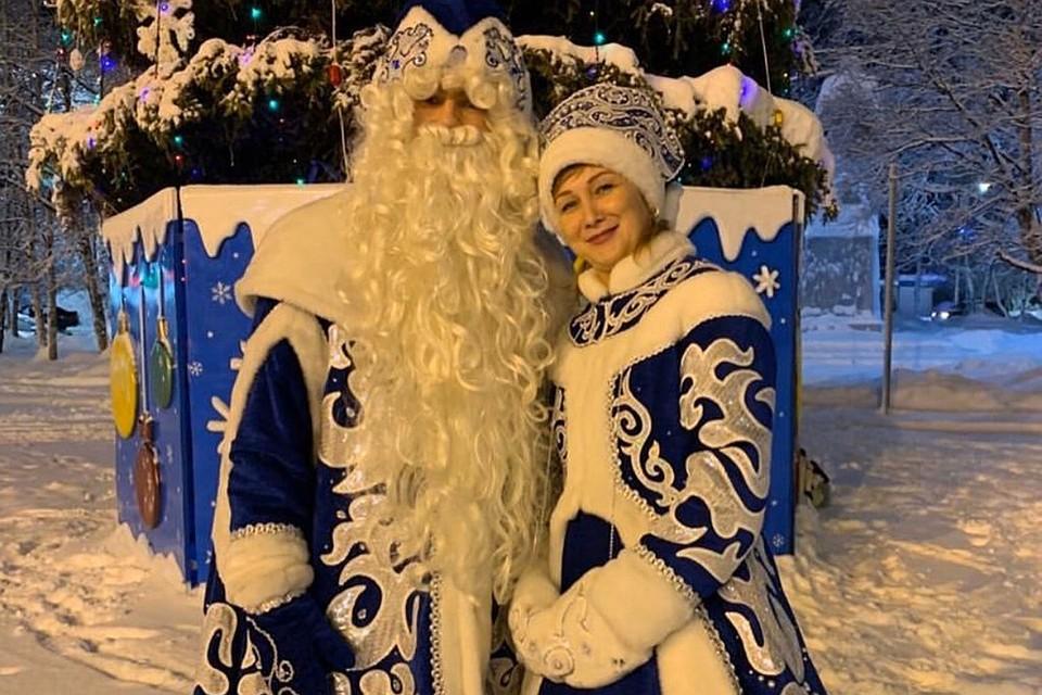 Поздравления в костюме деда мороза