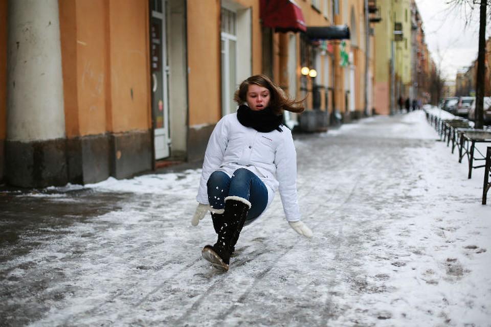 5 января петербуржцев ждет гололед и сильный ветер.