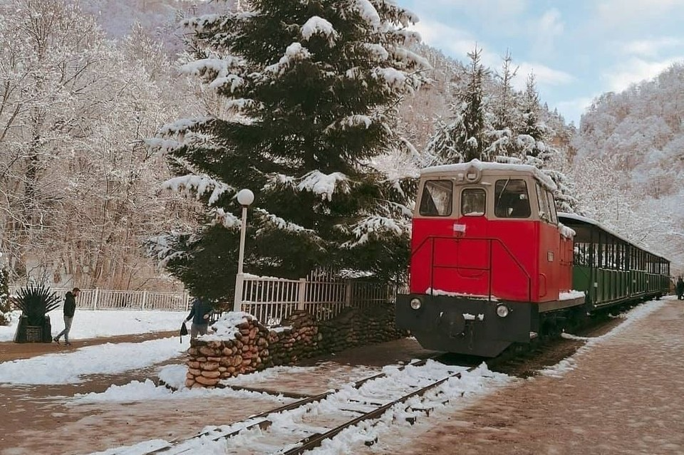 Еще месяц назад поезд работал для туристов. Фото: instagram.com/yulia01rus