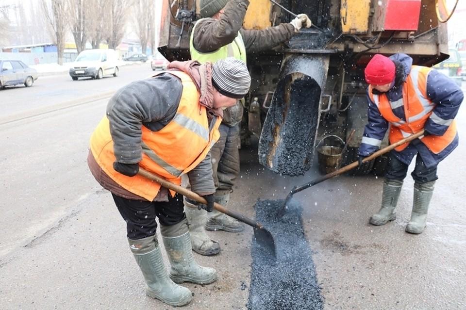 С нового года в Липецке отремонтировали 200 кв.м. дорог