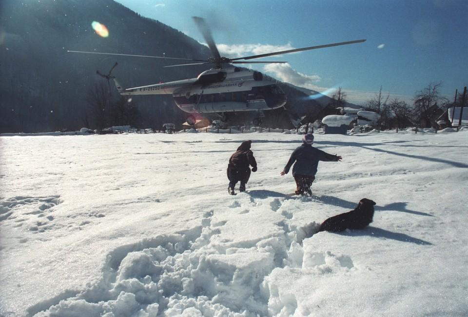 На фото: вертолет Ми-8П на вертодроме