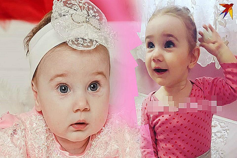 На первом фото девочке 5 месяцев. Родители тогда даже не догадывались, с чем столкнутся