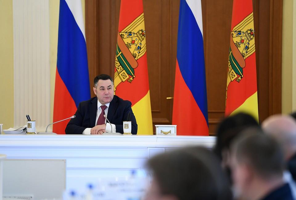 Губернатор Игорь Руденя провел первое в этом году заседание правительства Фото: ПТО